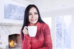 Нагревать с кофе Стоковые Изображения