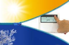 Нагревая и охлаждая кондиционер воздуха Стоковые Фотографии RF