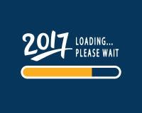 2017 нагружает пожалуйста ждите Забавный плакат Нового Года Стоковое Изображение RF