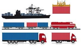 Нагружать и посылка контейнеров Стоковое фото RF