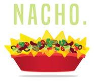 Нагруженная вегетарианская плита nacho сыра иллюстрация штока