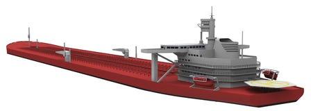 Нагруженный красный цвет нефтяного танкера задний иллюстрация вектора