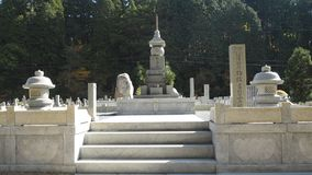 Надгробные плиты на Okunoin Koyasan Японии Стоковое Фото