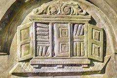 Надгробный камень выученного человека Стоковые Изображения