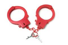надевает наручники пластмасса стоковое фото rf