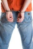 надеванный наручники человек Стоковое Изображение