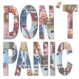 наденьте панику t евро бесплатная иллюстрация