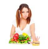наденьте съешьте старье t еды для того чтобы хотеть женщину стоковое фото