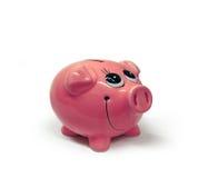надеяться счастливое moneybox дег Стоковое Фото