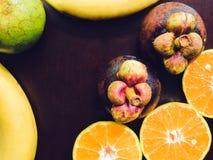 Надземная группа взгляда для мангустана и cr плодоовощ здоровья и диеты Стоковое Фото