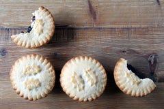 Надземная съемка 4 семенит пироги, традиционное desser рождества Стоковое Изображение RF