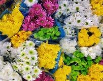 Надземный взгляд разнообразие букетов цветка на дисплее Стоковое Фото