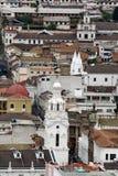 Надземный взгляд старого городка, Кито, эквадора стоковое фото rf