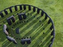 надземный взгляд stonehenge иллюстрация вектора