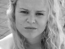 надоеденная женщина портрета Стоковое Изображение RF
