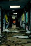 Надписи на стенах большого похожего на руин здания стоковая фотография rf