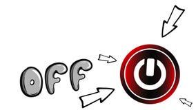 Надпись анимации мультфильма и кнопка бесплатная иллюстрация