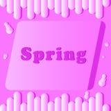Надпись весны с розовым и светлым цветом иллюстрация штока