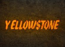 Надпись Йеллоустон магмы стоковая фотография