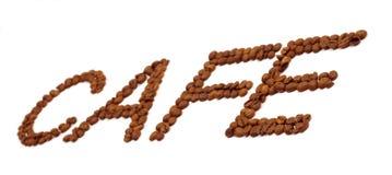 надпись кофе фасолей Стоковые Фото