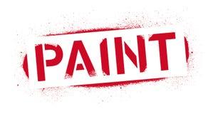 Надпись краски восковки Красная печать граффити на белой предпосылке Искусство улицы дизайна вектора бесплатная иллюстрация
