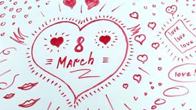 Надпись к 8-ому марта сток-видео