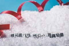 Надпись на Новом Годе снега счастливом стоковые фото