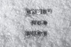 Надпись на Новом Годе снега счастливом стоковая фотография