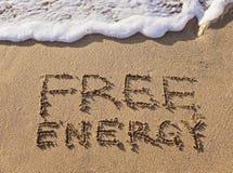 Надпись на свободной энергии песка Стоковое Изображение RF