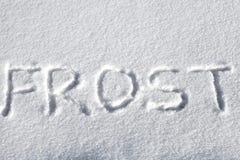 Надпись на снежке стоковая фотография
