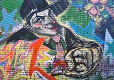 надпись на стенах гангстера клоуна Стоковое фото RF