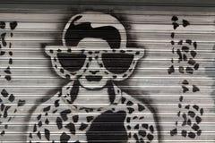 надпись на стенах гаража Стоковые Фото