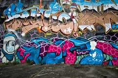 Надпись на стенах города стоковые изображения rf