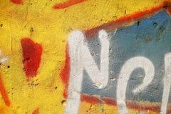 Надпись на стенах города Стоковая Фотография