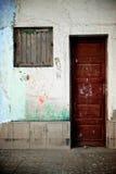 надпись на стенах двери деревянная Стоковые Изображения