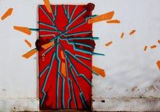 надпись на стенах двери Стоковые Изображения
