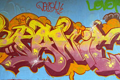 надпись на стенах искусства Стоковое Изображение