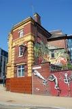 Надпись на стенах искусства Pub в Sheffield Стоковая Фотография