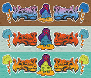 надпись на стенах кирпича wal Стоковые Фотографии RF