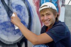 надпись на стенах мальчика Стоковые Изображения RF