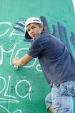 надпись на стенах мальчика Стоковые Фотографии RF