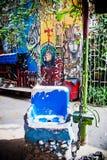 Надпись на стенах на переулке Callejon de Hamel Стоковые Изображения RF