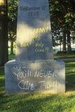 Надпись на стенах на статуе Tecumseh Стоковая Фотография RF