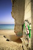 Надпись на стенах на стене морем Стоковая Фотография RF