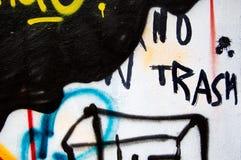 надпись на стенах отсутствие погани Стоковые Фото