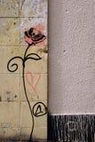 надпись на стенах подняла Стоковые Изображения