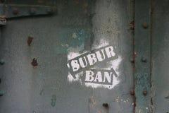 надпись на стенах спада принципиальной схемы урбанская Стоковая Фотография RF