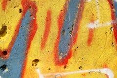 Надпись на стенах улицы Стоковое Изображение RF