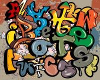 надпись на стенах элементов алфавита Стоковые Фото