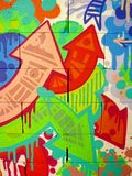 надпись на стенах 01 предпосылки Стоковое Фото